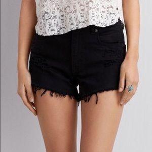 American Eagle Distressed Hi-Rise Shorts Size 8